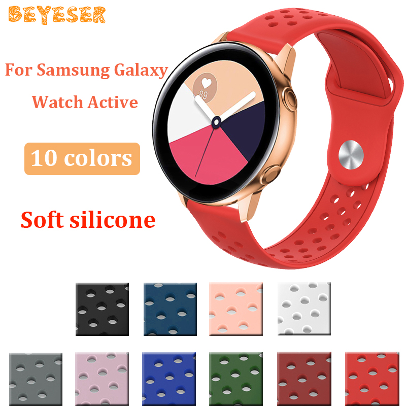 20mm For Samsung Galaxy watch active Sport Silicone watch strap For xiaomi Huami Amazfit GTS Smart watch accessories wristband