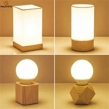 Lámpara de mesa de madera nórdica, modernas lámparas de noche para dormitorio, mesa, decoración para habitación de niños, lámpara de iluminación, luminarias de aparato de madera