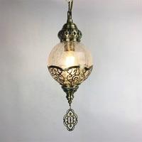Turkey Ethnic Customs Handmade Lamp Romantic Cafe Restaurant Bar Tree Pendant Light Bar Mosaic Pendant Lamp deco chambre