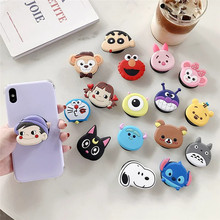 Universal flexible mobile phone holder, cartoon airbag, inflatable mobile phone holder for iPhone X mobile phone finger holder car cute cartoon mobile phone flexible gravity holder