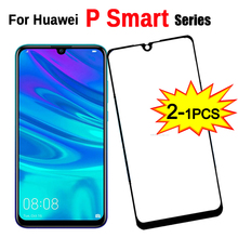 1 2Pcsป้องกันบนPสมาร์ท 2019 กระจกนิรภัย 9HสำหรับHuawei P + plus/Pro/Z 2019 ป้องกันหน้าจอHD
