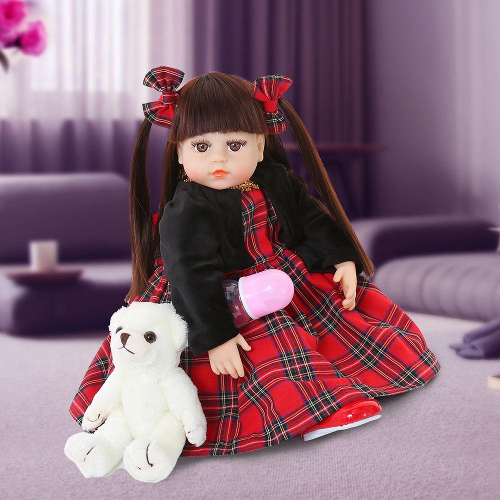 48 см, мягкая силиконовая кукла для новорожденных, 19 дюймов, куклы для новорожденных, реалистичные куклы Bonecas, игрушки для детей