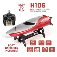 TKKJ H106 Racing Boat 2.4G 2CH 28km/h High Speed Mode Switch Self Righting 150m Remote Control Distance Mode