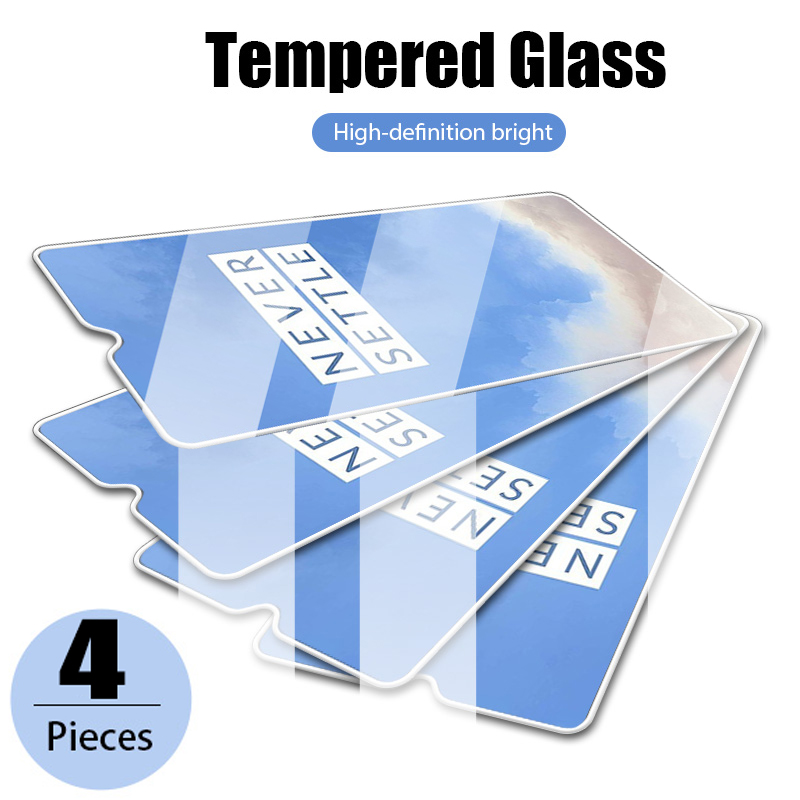 4 шт. полное покрытие закаленное стекло для OnePlus 7 7T 8 8T 9 Pro Защита экрана для 9R 8 Lite 5 6 6T Nord N100 Защитная стеклянная пленка