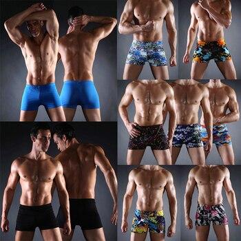 цена Hot Sales Vintage Allover - Print Elastic Band With Ties Sexy Swim Trunk 2020 Big Men Plus Size XXX men's male sexy swimwear онлайн в 2017 году