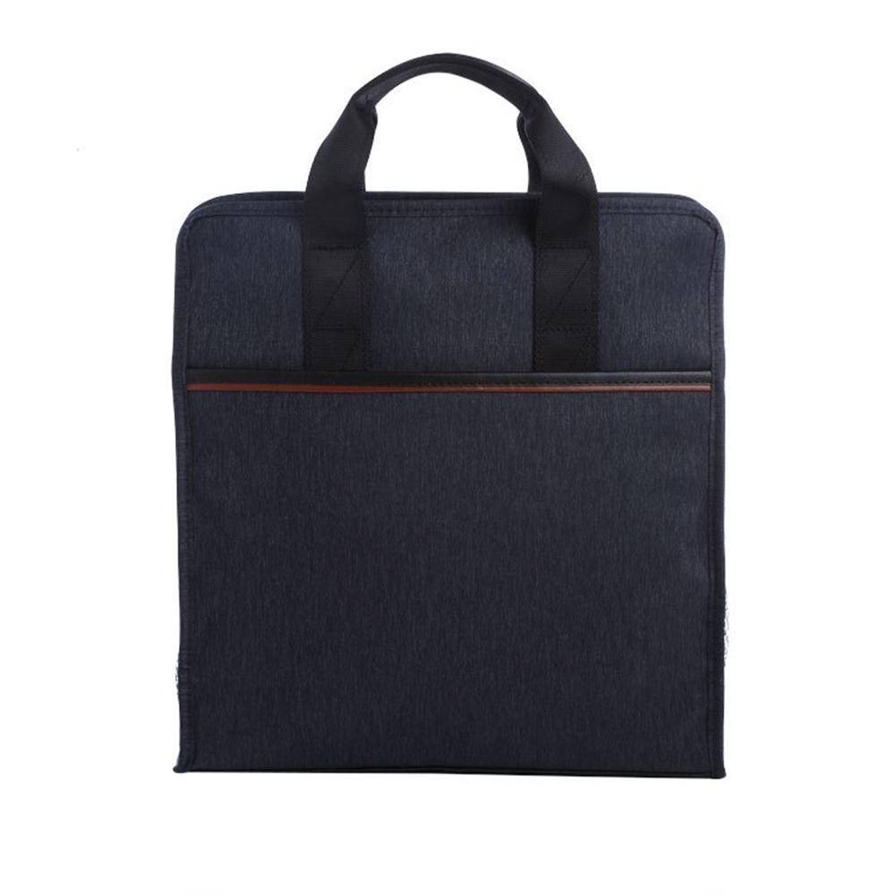 Men Waterproof Multi Pockets Vertical Briefcase Business Files Storage Handbag