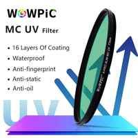 WOWPIC MC UV Filter 49 52 55 58mm 62 67 72 77 82mm Super Dünne Grün Muticoating 16 schichten Objektiv Protector für Canon Nikon Kamera