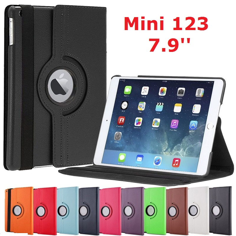 360 Rotation Tablet <font><b>Coque</b></font> for <font><b>iPad</b></font> mini 2 mini 3 Case <font><b>A1432</b></font> A1599 360 Stand Smart Magnetic 7.9'' Cover for <font><b>iPad</b></font> mini 1 2 3 Cover image