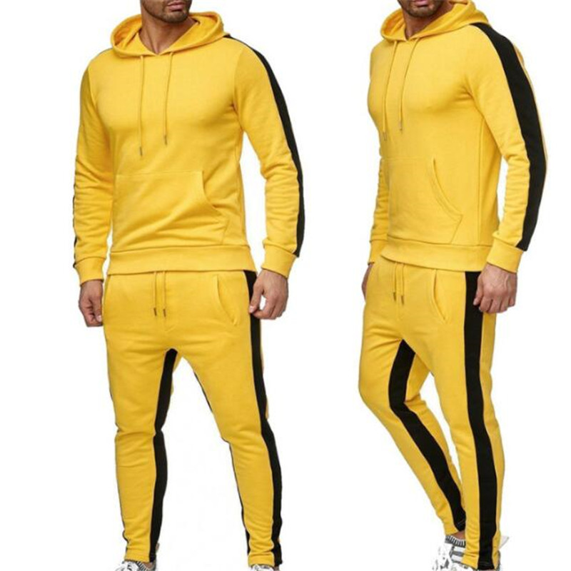 Spring New Fleece Matching Hoodie Hoodie Men's Suit Yellow, White, Red And So On Onmanufacturers Direct Wholesale And Retail 4xl