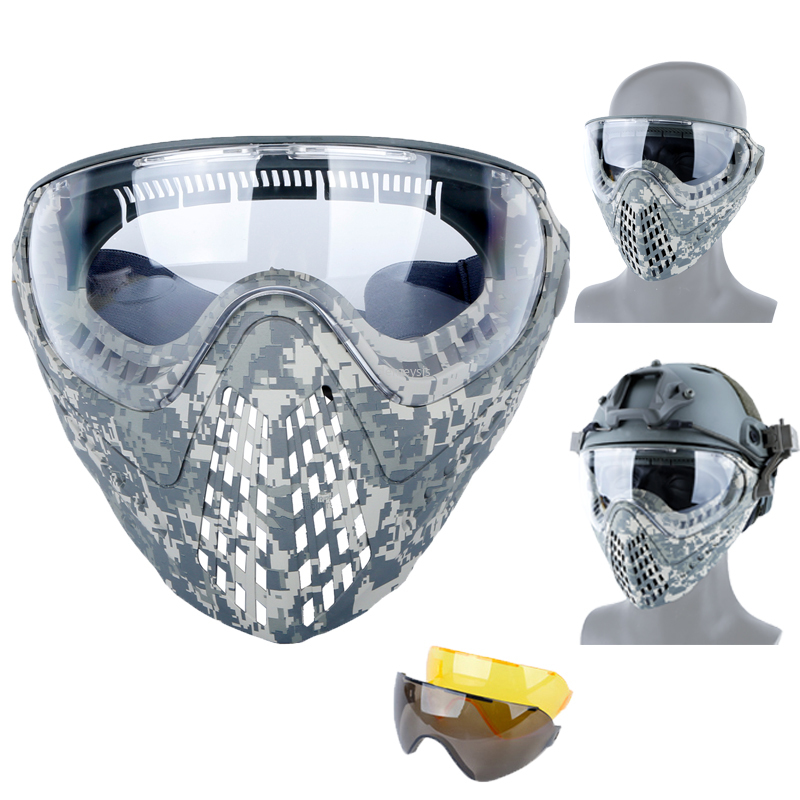 Airsoft Paintball Camouflage Tactical Masks Men Women Outdoor Hunting Military Mask Adjustable Full Face Shooting Cambat Masks