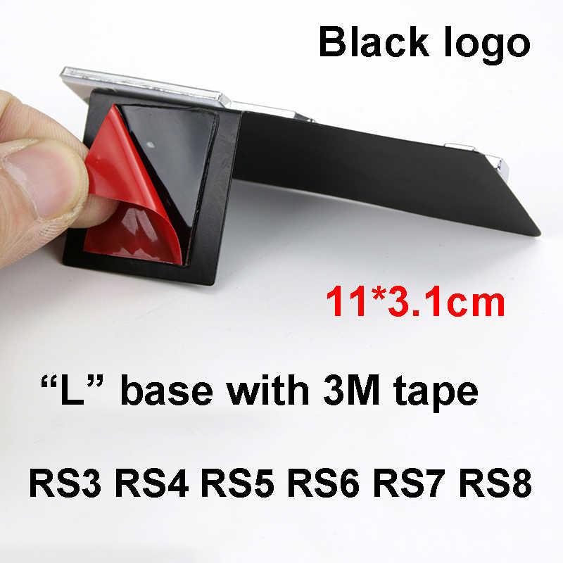 S3 S4 S5 S6 S7 S8 RS3 RS4 RS5 RS6 RS7 RS8 emblemat na maskownicę metalowy samochód Logo stylizacji klip i i 3M taśmy dla Audi A3 A4L A5 A6L A7 A8