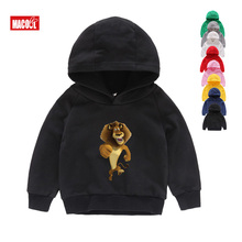 Kids Funny Madagascar Popular Cartoon Zebra Lion Hippo Hoodies Sweatshirts 2019 Super Lovely for Boys 6T