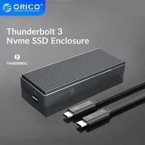 Image 1 - ORICO Thunderbolt 3 NVME M.2 SSD الضميمة 2 تيرا بايت الألومنيوم SSD حالة USB C مع 40Gbps Thunderbolt 3 C إلى C كابل لأجهزة الكمبيوتر المحمول سطح المكتب