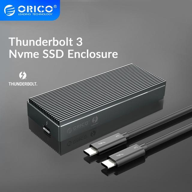 ORICO Thunderbolt 3 NVME M.2 SSD الضميمة 2 تيرا بايت الألومنيوم SSD حالة USB C مع 40Gbps Thunderbolt 3 C إلى C كابل لأجهزة الكمبيوتر المحمول سطح المكتب