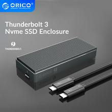 ORICO Thunderbolt 3 NVME M.2 SSD Enclosure 2TB Aluminum SSD Case USB C with 40Gbps Thunderbolt 3 C to C Cable For Laptop Desktop