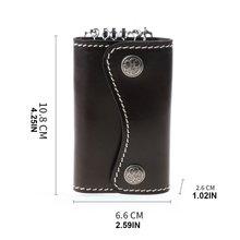Портативный кожаный брелок для ключей кошелек с 6 крючками и