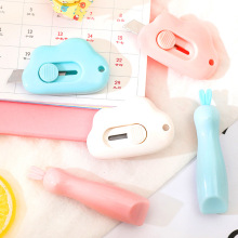 Cute Cloud Shape Stainless Steel Letter Opener Paper Cutting Ulity Knife Scrapbooking Tools Paper Trimmer School Office Supplies