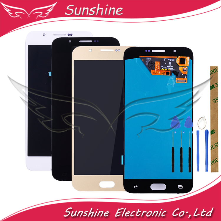 Tested <font><b>LCD</b></font> For <font><b>Samsung</b></font> <font><b>Galaxy</b></font> <font><b>A8</b></font> 2015 A800 A8000 A800F <font><b>LCD</b></font> <font><b>Display</b></font> With <font><b>Touch</b></font> <font><b>Screen</b></font> Sensor Complete Assembly image