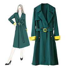 2019 Europe Brand New Modis 2019 Fall /Autumn Women Casual Oversized Large Pockets Loose Tr