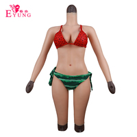 Eyung Crossdresser Silicone Tits Artifical Breast Forms Vagina 5 point Bodysuit No Oil Food Grade Memory Silicone Fake Boobs D