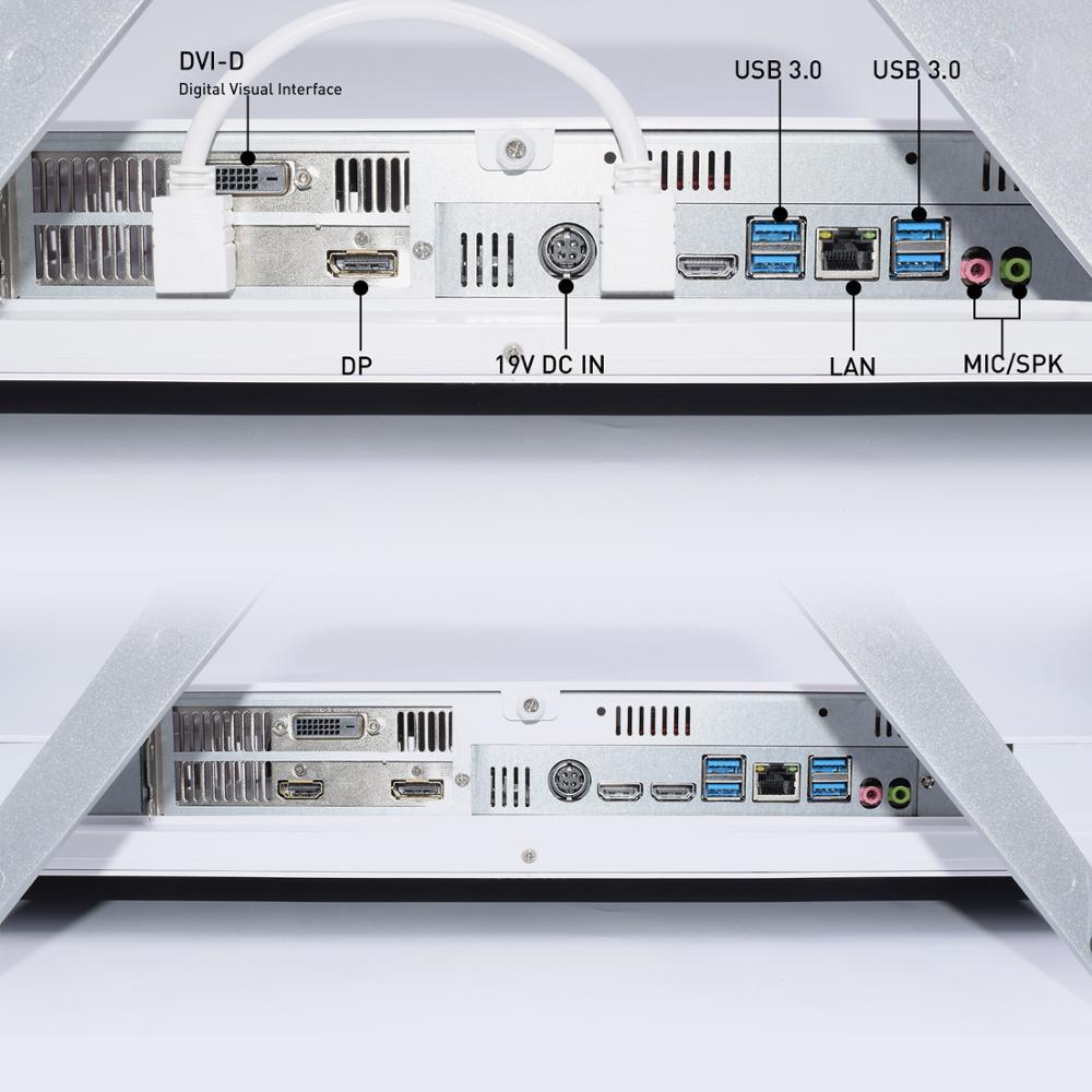 HYSTOU All-in-One PC Core 27.2inch i3 9100F i5 9400F i7 9700F DDR4 NVIDIA GTX1650 4GB Computer Windows 10 Linux office computer