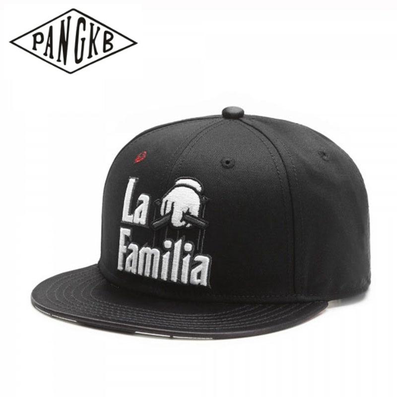 Marca PANGKB, cabeza de LA familia, gorra negra, gorra snapback de hip hop para hombres, mujeres, adultos, gorra para el sol de béisbol informal al aire libre