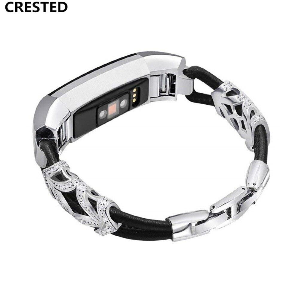 Strass Pulseira Para Fitbit Alta HR/Alta Substituição da banda de metal pulseira de Aço Inoxidável Pulseira de Pulso Das Mulheres cinto
