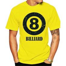 Koszulka bawełniana T De Bilhar Snooker Oito Bola Nove Cue Koe Tiro Mesa Ponta Saco Legal Casual Orgulhomasculina Unissex Moda