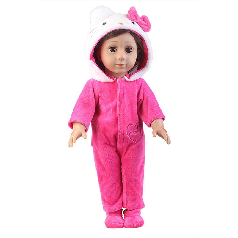 2 個ユニコーン子猫人形の服のスーツのための私たちの世代新生児人形フィット 18 インチ 43 センチメートル人形女の子の誕生日プレゼント