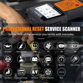 FOXWELL NT650 Elite OBD2 Automotive Scanner ABS SRS DPF Oil Reset Code Reader Professional OBD Car Diagnostic Tool OBD2 Scanner