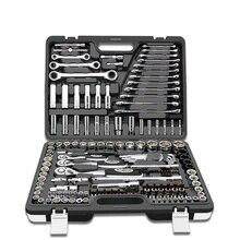 HS инструменты 94 шт. наборы ручных инструментов трещотка гаечный ключ динамометрический ключ Набор торцевых головок Профессиональный ящик для ремонта автомобиля наборы инструментов механические инструменты