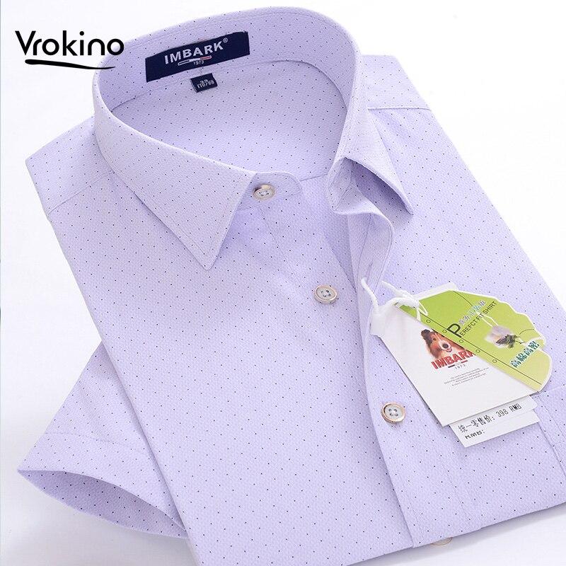 8XL 9XL 10XL 2019 Summer New Shelves Men's Business Casual Print Shirt Stylish And Exquisite Loose Cotton Short-sleeved Shirt