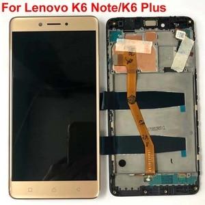 Image 3 - Original test 5.5 Neue Für Lenovo Vibe K6 Plus K53b36 K53b37 K6 Beachten Voller LCD DIsplay + Touch Screen digitizer Montage + Rahmen