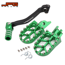 Foot Pegs Pedals Rest Gear-Shift-Foot-Lever Dirt-Bike Motorcycle Cnc KXF250 for KAWASAKI