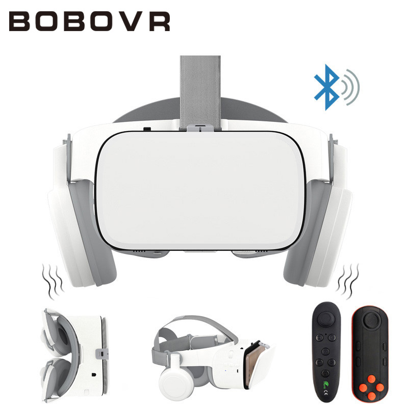 BOBOVR Z6 улучшенные 3D очки VR гарнитура Google Cardboard Bluetooth очки виртуальной реальности беспроводной VR шлем для смартфонов