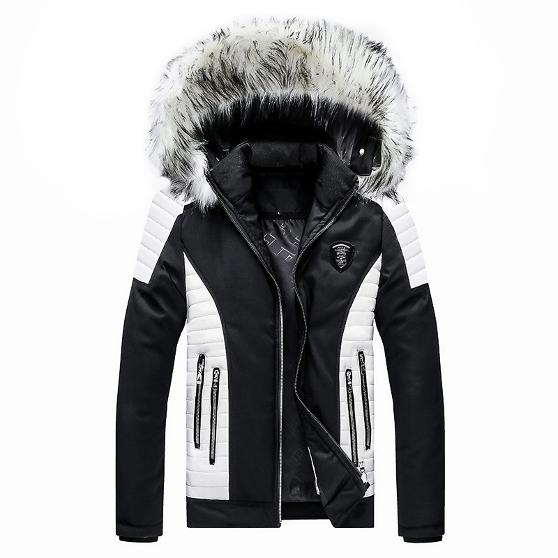 2019 Brand New Mens Parkas Clothing Detachable Hooded Large Size Multiple Zipper Winter Coats Thicken Warm Mens Winter Jacket