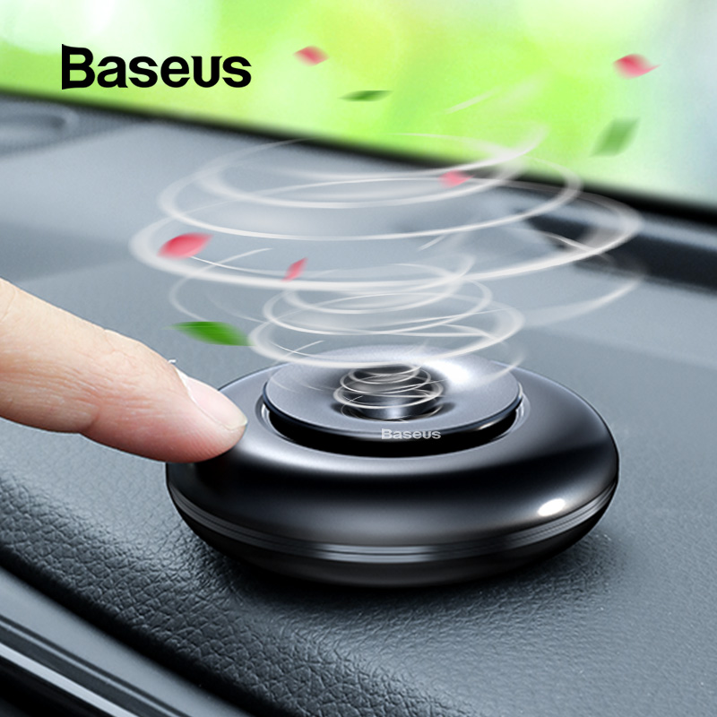 Baseus Car Air Freshener Pure Alloy Lemon Car Perfume Air Freshener Auto Diffuser Sweet Smell Aromatherapy