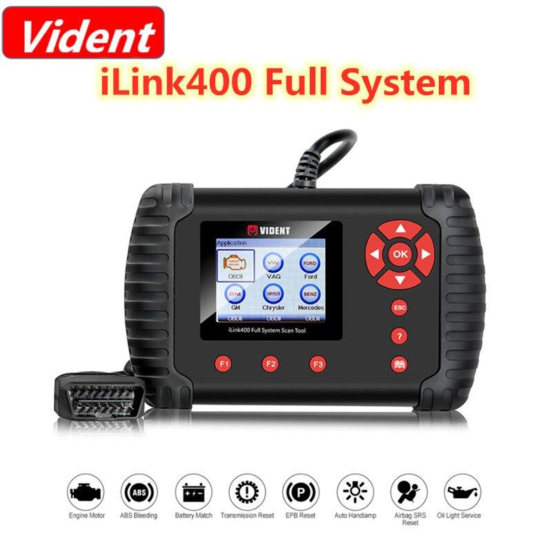 VIDENT iLink400 نظام كامل واحد جعل أداة مسح ضوئي دعم ABS/SRS/EPB // DPF تجديد/إعادة تعيين النفط ilnk400