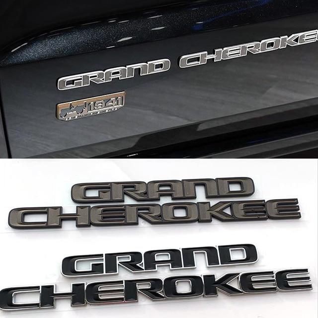 ABS 3d Fender Side Sticker for Jeep Grand Cherokee srt wj wk wk2 zj Car Logo Black Emblem Exterior Rear Decal Auto Modification 1