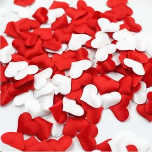 Hot 100PCS/bag New Romantic Sponge Satin Fabric Heart Petals Wedding Confetti Table Bed Valentine Christmas Halloween Decoration