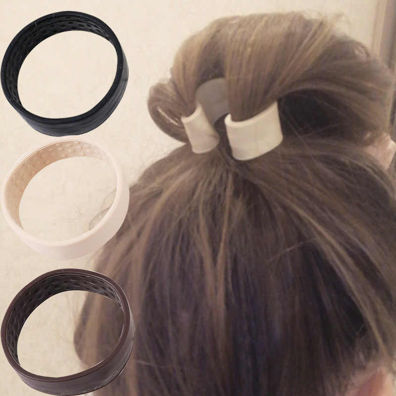 Kobieta kucyk Holder opaska do włosów składane gumki do włosów silikonowa elastyczna opaska do włosów proste akcesoria do włosów