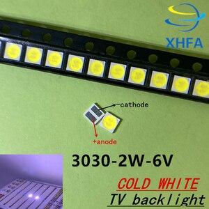 500 шт. Lextar хорошей устойчивостью к высокой Мощность светодиодный Подсветка 1,8 Вт 2 3030 6 V холодный белый 150-187LM PT30W45 V1 ТВ Применение 3030