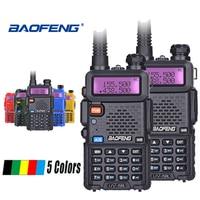 uv 5r 2pcs Baofeng UV-5R מכשיר הקשר UHF VHF ציד רדיו Baofeng UV 5R Ham Radio Station כף יד CB רדיו Comunicador Walky טוקי (1)