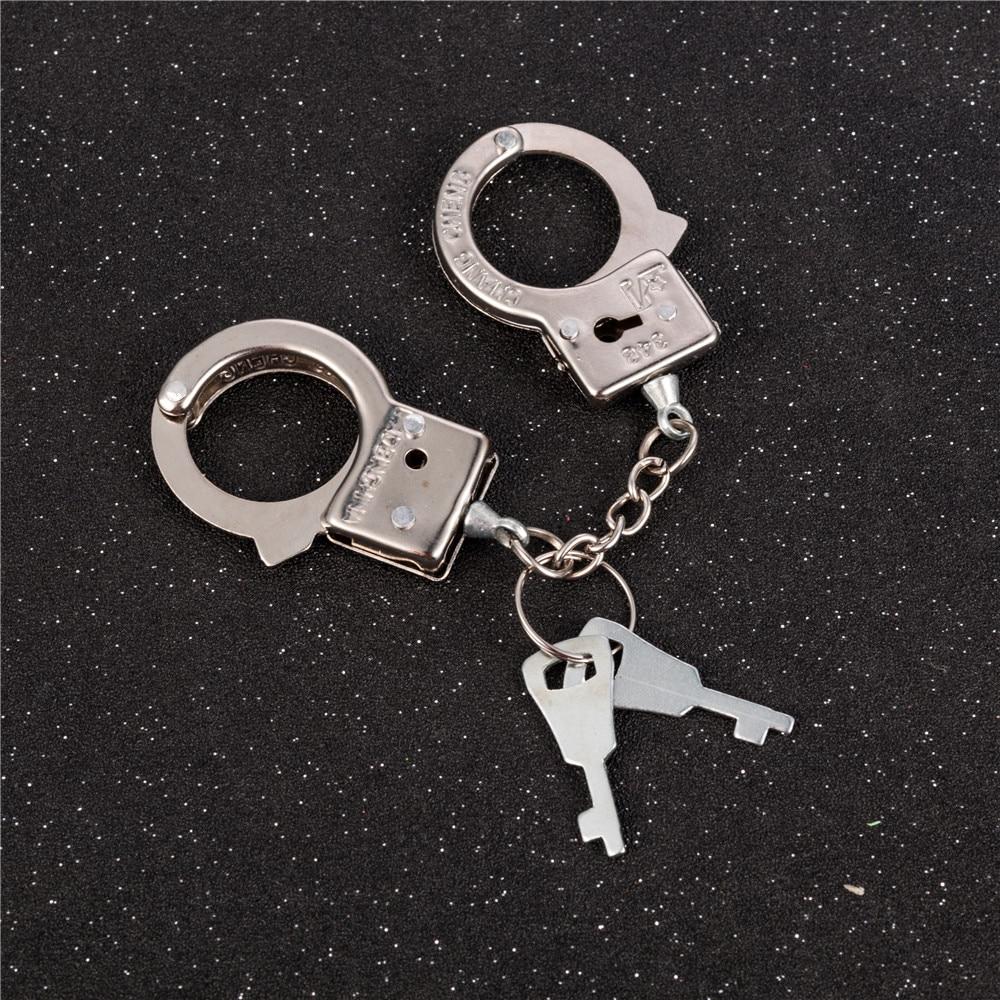 Metal Keychain Handcuffs-Model Funny-Accessories Simulation Best-Gift New-Design Men