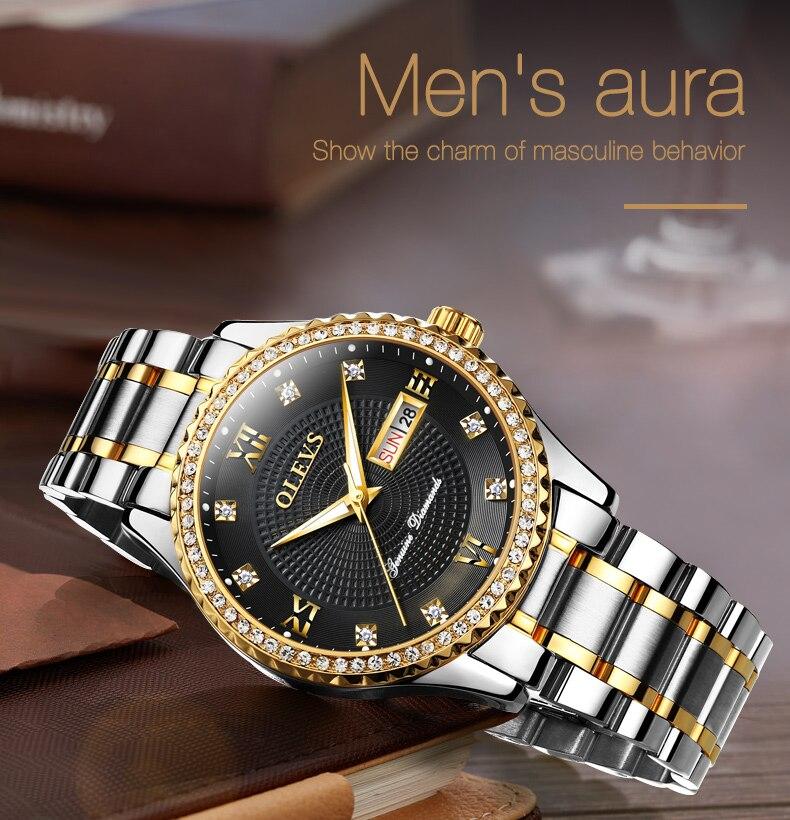relógio de pulso de quartzo para relógio