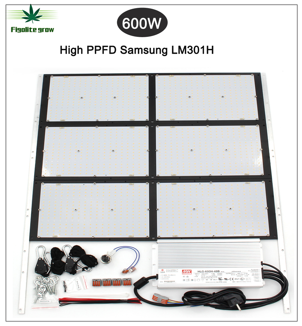2020 New  Lm301H DIY Dimmable 600W HLG LED Samsung Board QB288 V3 High PPFD With Deep Red 660nm UV IR Diy Led Grow Lights