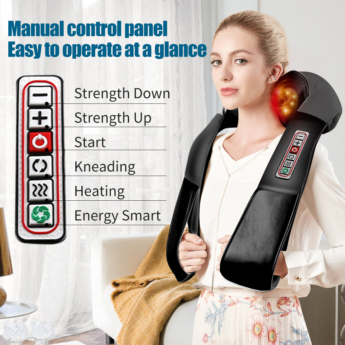 3D kneading Shiatsu Infrared Heated Kneading Car/Home Massagem Cervical Back Neck Massager Shawl Device Shoulder Massager Fitness 1ef722433d607dd9d2b8b7: China|Poland|Russian Federation|United States