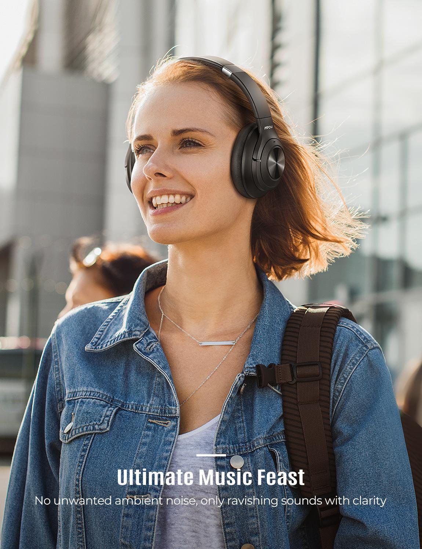 Mpow H21Hybrid Attiva Del Rumore Che Annulla Cuffia Senza Fili di Bluetooth 5.0 Cuffie di Musica 40 H Tempo di Gioco Cvc 6.0 per Il Iphone 11 Xiaomi - 6