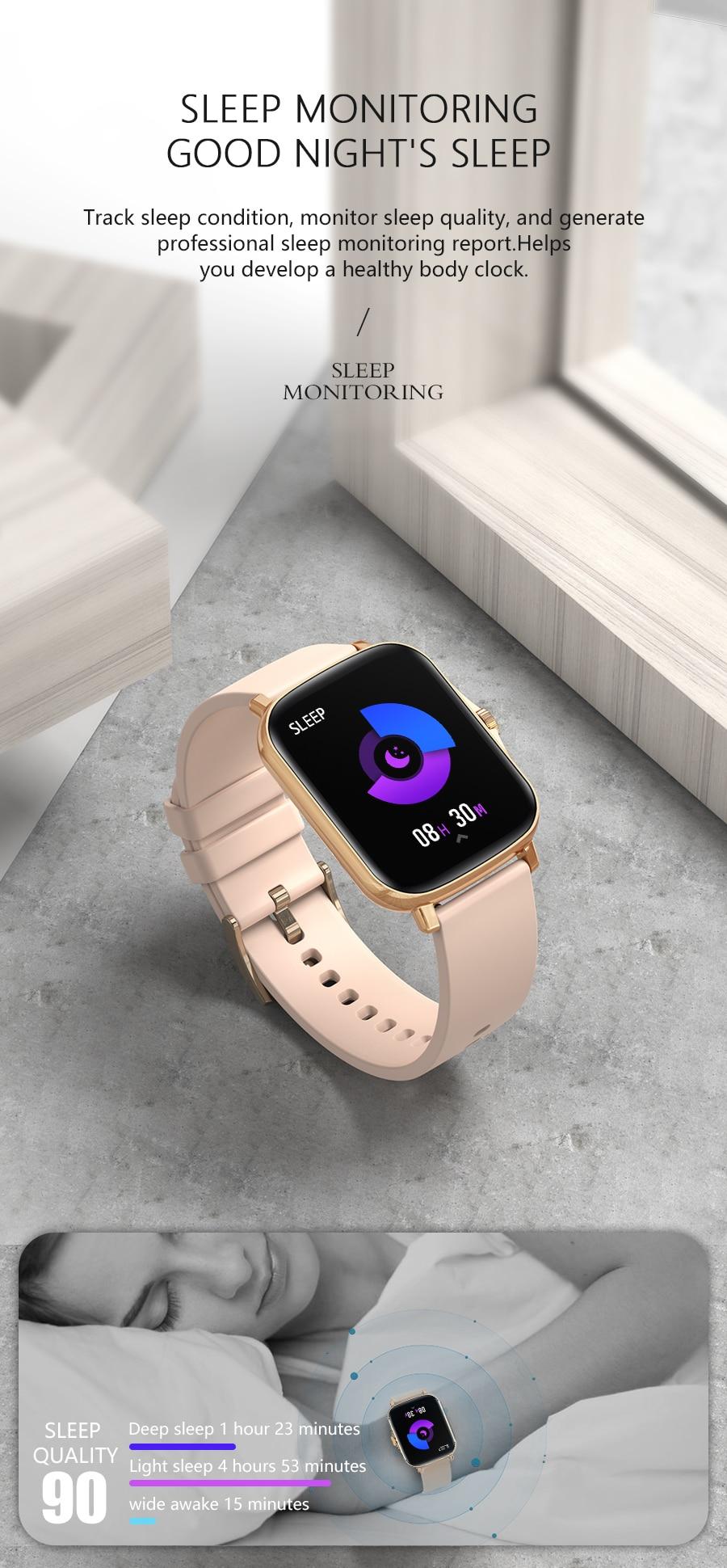 H8a8852a482db4e7db084d1b300827f3bd Full Touch Y20 Sport Smart Watch Men Women IP68 custom dial Heart Rate Fitness Tracker Smartwatch wristwatch GTS 2 P8 plus