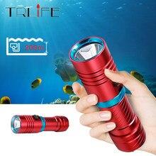 Ipx8 lanterna de mergulho subaquática l2, 100 metros, à prova d' água, luz led, lanterna, mergulho, camping, com estacionamento